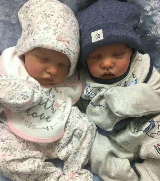 muñecos reborn gemelos mellizos